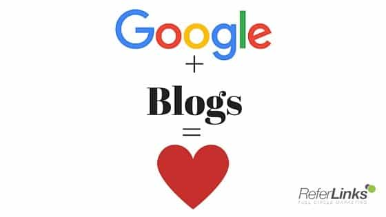 Google Loves Blogs