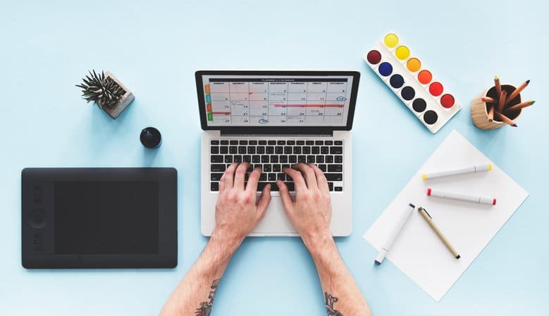Computer Laptop Calendar Schedule Desk Concept