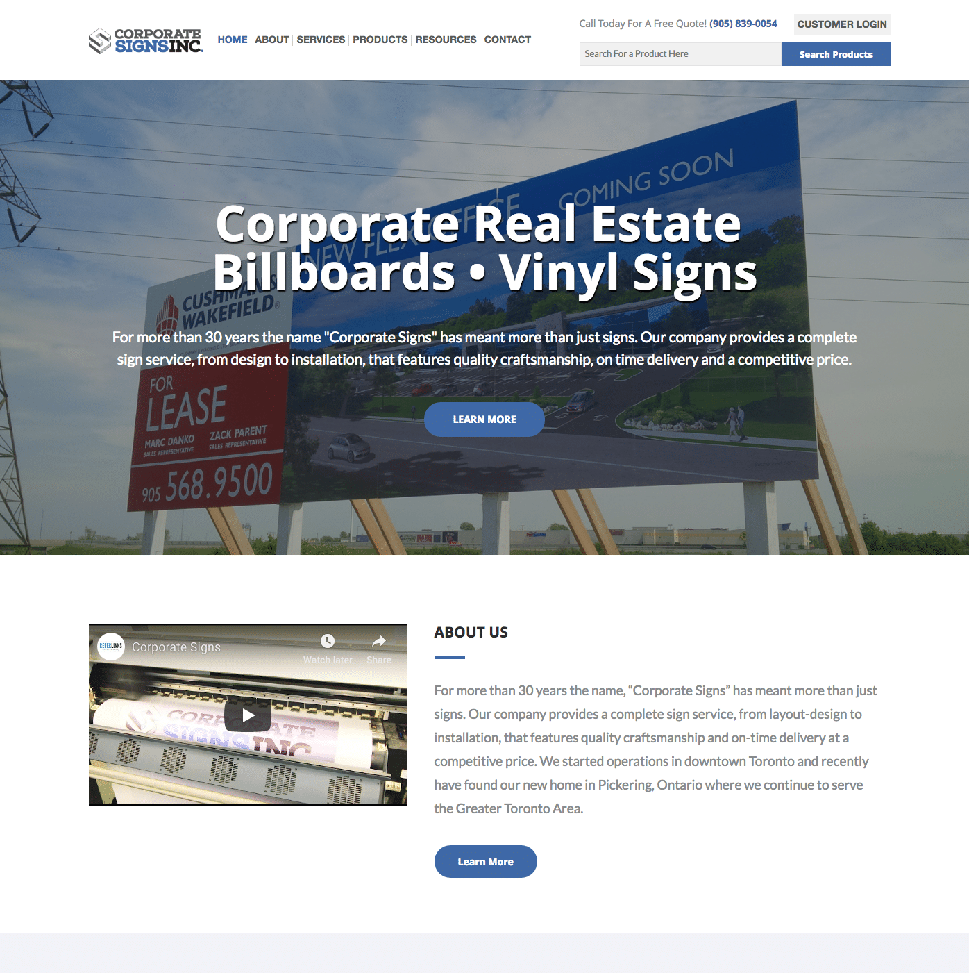 Corporate Signs